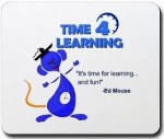 time 4 learning .com logo with ed mouse